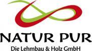 Logo: NATUR PUR  Die Lehmbau & Holz GmbH